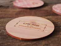 Neighborwoods: City Map Wooden Coasters