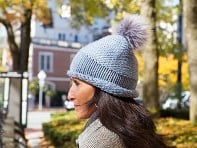 Lizette: Faux Fur Knit Pom Pom Hat