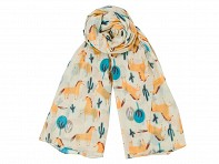 Sophia Costas: Cotton Scarf - Desert