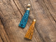 Faire Collection: Turquoise/Incan Sun Tassel Necklace