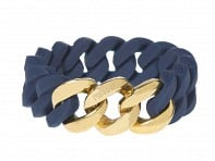 Rubbs: Silicone Bracelet with Gold Metal Set