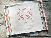 Sunday Drive Designs: Tea Towels - Choice Cuts of Pork