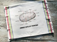 Sunday Drive Designs: Tea Towel - Choice Cuts of Potato