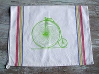 Tea Towels - High Wheel Bike