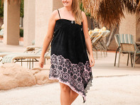 Black Lace Sarong & Towel Cover Up