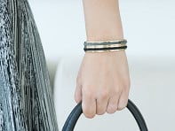 Stainless Steel Hair Tie Bracelet - Classic Design
