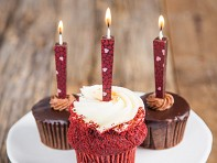 Edible Dark Chocolate Candles - Set of 3