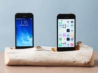 Docksmith: 2 Phone Driftwood Charging Dock
