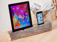 Driftwood Phone and Tablet Dock