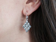 Liquid Metal: Diamond Shape Mesh Earrings