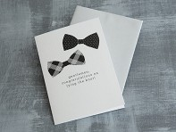 "Design With Heart: ""Gentlemen, Congrats"" Greeting Card"