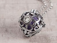 Heart Crystal Angel Locket