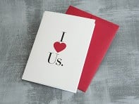 Design With Heart: I (Heart) Us Greeting Card