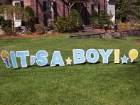 My Yard Card: Statement Yard Sign - It's A Boy