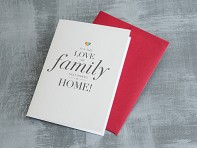 "Design With Heart: ""Love of Family"" Greeting Card"