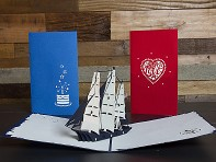 LovePop: Set of 3 Pop-up Cards - 2 Small and 1 Large