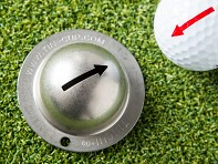 One Way Arrow Golf Ball Marker