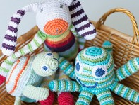 Pebble: Crocheted Rattles