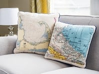 Not for Navigation: Custom Nautical Pillow