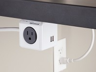 PowerCube: Dual USB Outlet Adapter with 5 ft. Extension