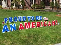 My Yard Card: Proud To Be An American Yard Sign