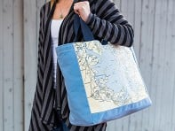 Not for Navigation: Custom Nautical Side Tote
