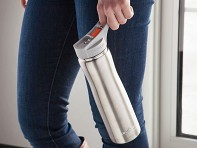 Silver Insulated Water Bottle