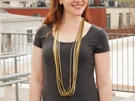 Minimum Design: Single Color Pleated Necklace