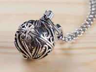 Spiral Design Angel Locket