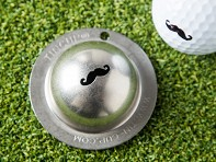 Stache Golf Ball Marker