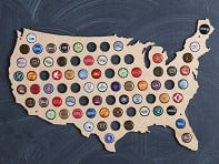 Wooden Shoe Designs: USA Beer Cap Trap