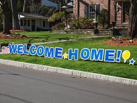 My Yard Card: Welcome Home Yard Sign
