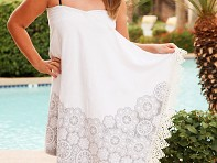 Simple Sarongs: White Lace Sarong & Towel Cover Up