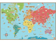 WallPops: Dry Erase World Map