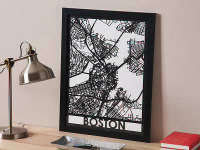 Cut Maps: Laser Cut Worldwide City Map