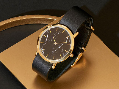 Analog Watch Co.: Black Marble Classic Watch
