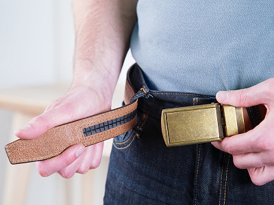 SlideBelts: Top Grain Leather Belt & Buckle