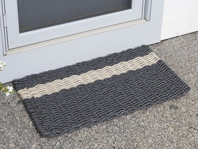 The Rope Co: Striped Nautical Door Mat