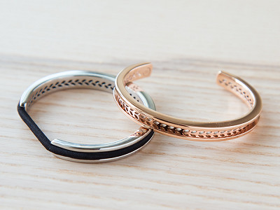 bittersweet: Stainless Steel Hair Tie Bracelet - Laurel Design