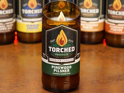 Torched Products: Beer Bottle Candle
