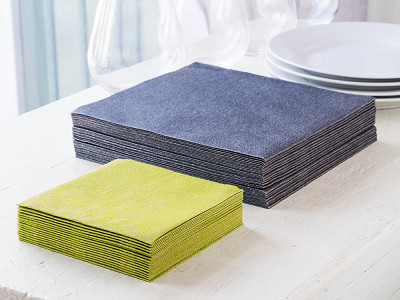 the napkins: Faux-Linen Dinner & Cocktail Napkins