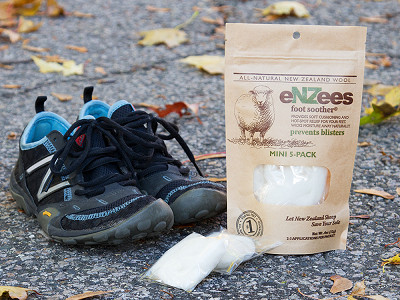 eNZees Foot Soother: Wool Blister Relief - 5 Mini Packs