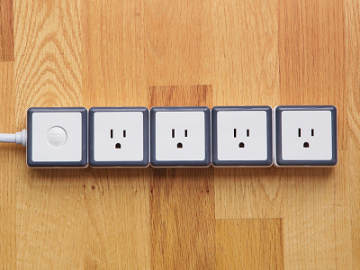 STACK: 4 Outlet Modular Surge Protector