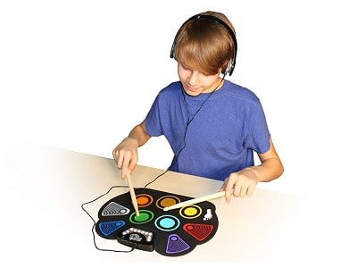 Rock and Roll It: Flexible Roll-Up Rainbow Drum Kit