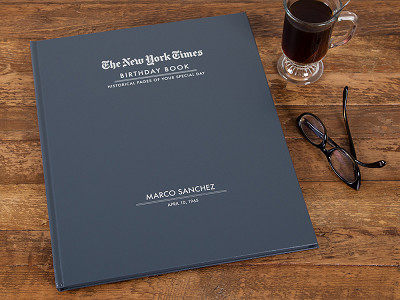 The New York Times: Personalized Birthday Book