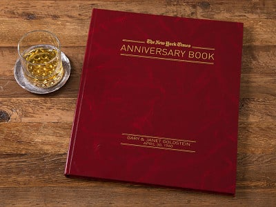 The New York Times: Personalized Anniversary Book