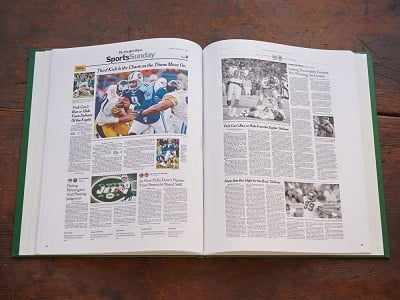 The New York Times: Personalized Sports History Book