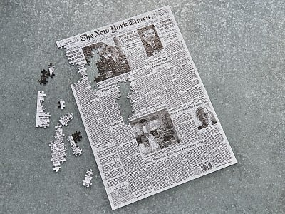 The New York Times: Custom Front Page Puzzle