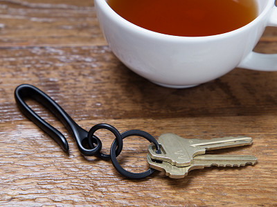Todder: Brass Fish Hook Keychain