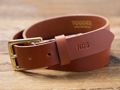 Todder: Men's Leather Belt with Monogram